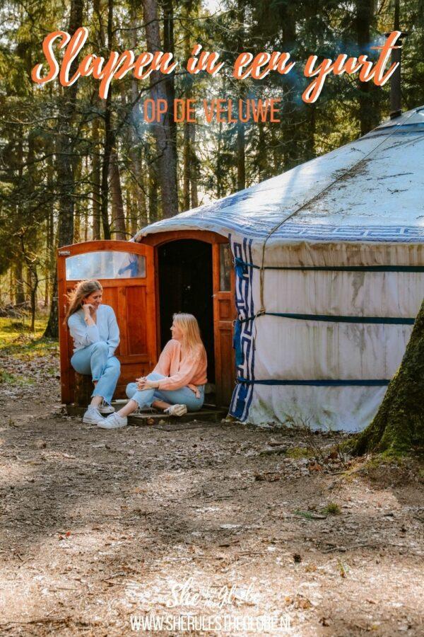 Slapen in een yurt op de veluwe