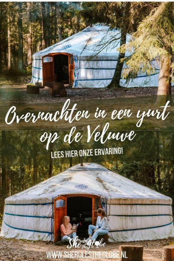 Slapen in een yurt op de Veluwe is een unieke ervaring