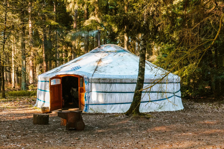 overnachten in een mongoolse yurt
