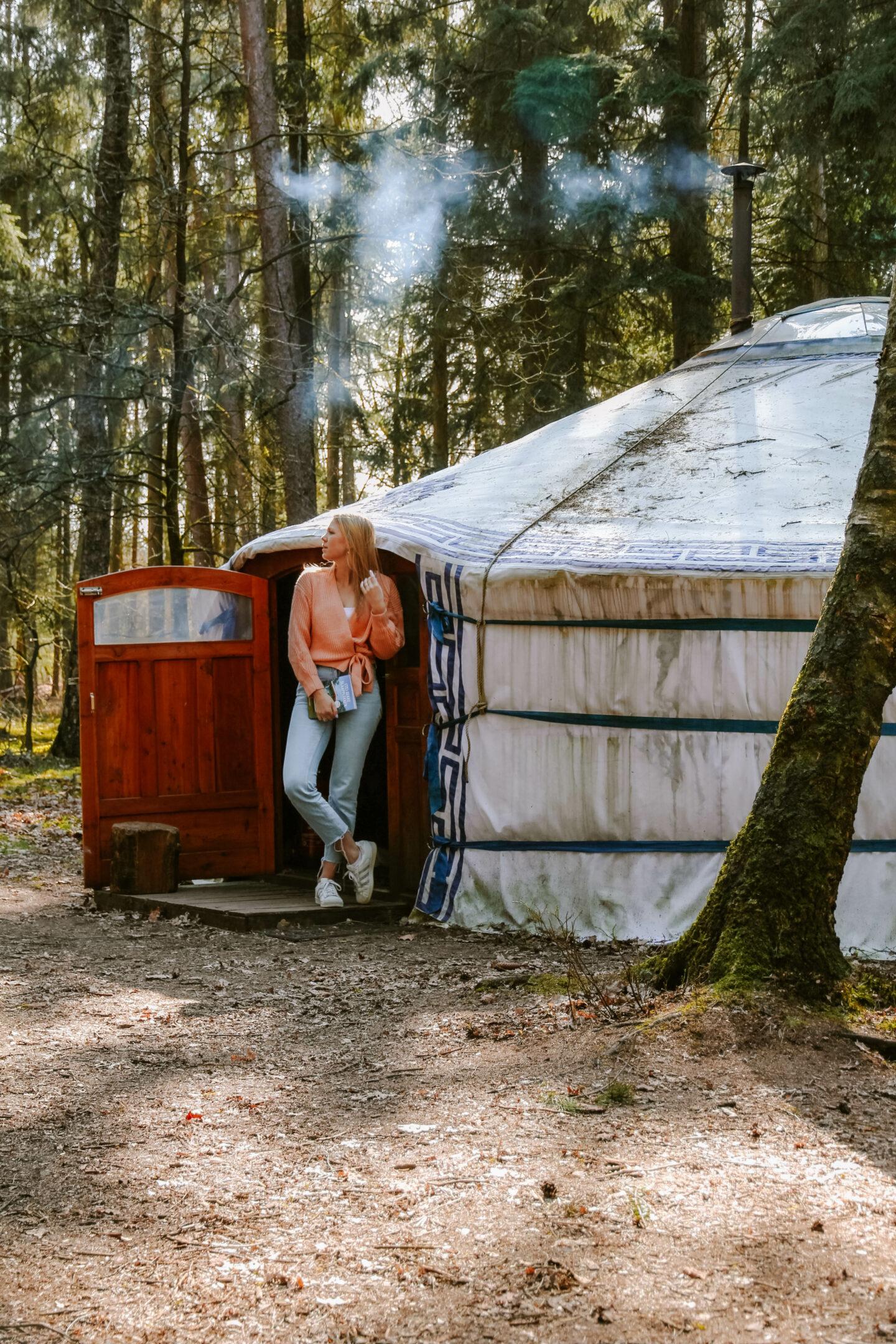 slapen in een mongoolse yurt veluwe
