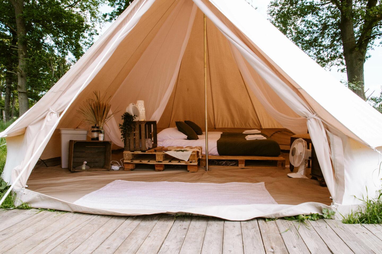 Slapen in een Nomads tent