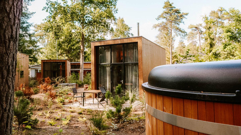 Tiny house Beeksebergen met luxe wellness faciliteiten in Nederland